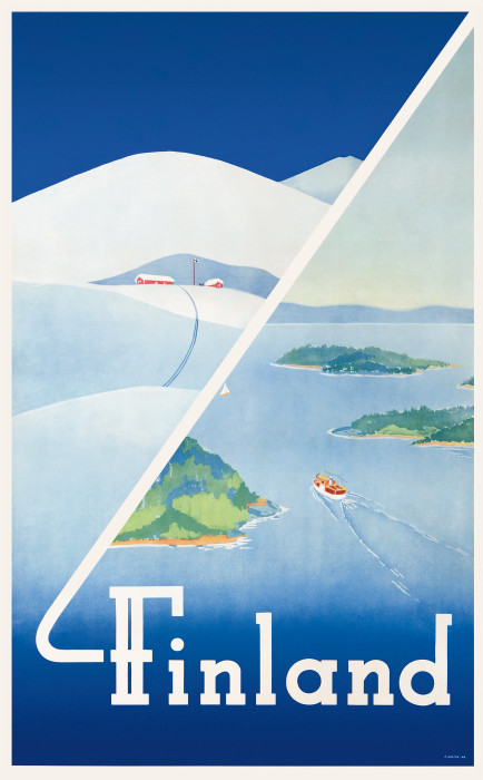 Bild 113 Finland © Erkki Hölttä, 1948, Come to Finland_red. Größe - Kopie