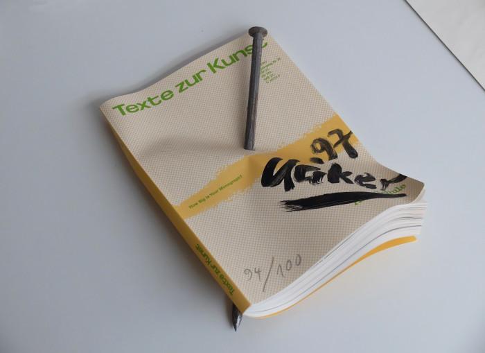 """Günther Uecker, Ohne Titel, """"Texte zur Kunst""""- Edition 1997"""