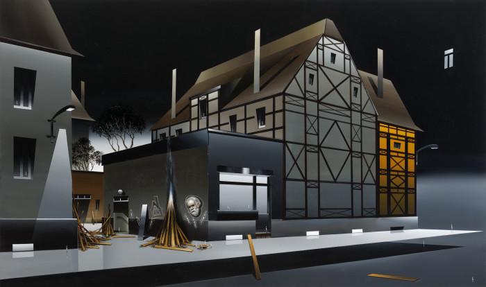 Titus Schade, Der Kiosk, 2012, Oel und Acryl auf Leinweind, 100 x 170cm, Foto Uwe Walter Leipzig Berlin DSC_6721_2