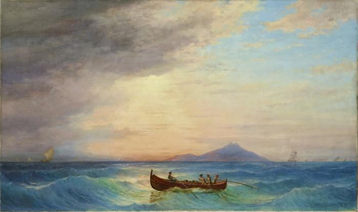 Carl Morgenstern, Fischer vor Palermo, 1857, Ol auf Leinwand