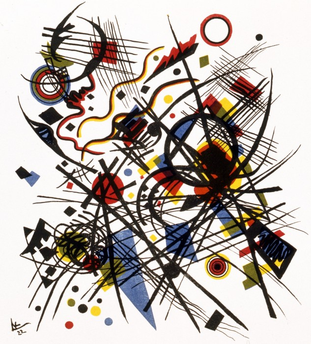 Wassily Kandinsky, Komposition, 1922, Lithografie