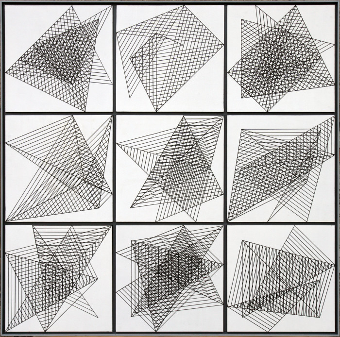 1-Darstellungsvariante zu neun Bewegungen