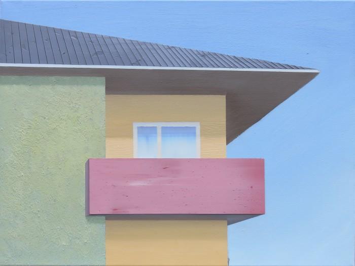 Großer Balkon II, 2018, 60 x 80 cm