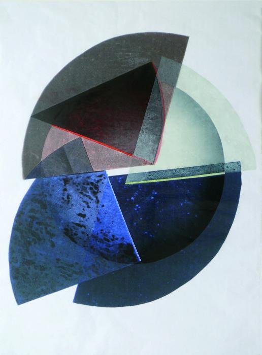 5 Teile + 1 Ganzes; Farbholzdruck; 100 x 70 cm; 2016_cmyk
