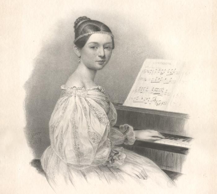 C. Schumann am Klavier