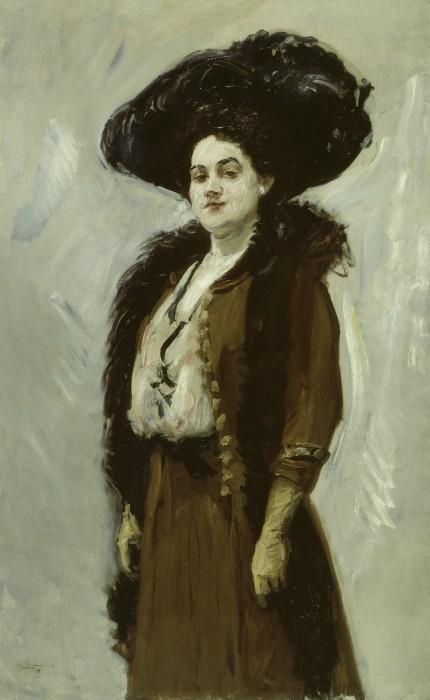 Dame in Braun - Else Berna