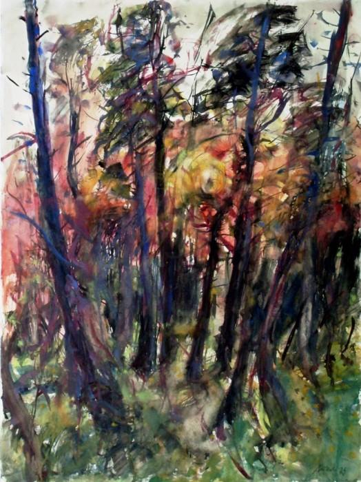 Mutterlose_Untergehende Sonne im Awald_1979